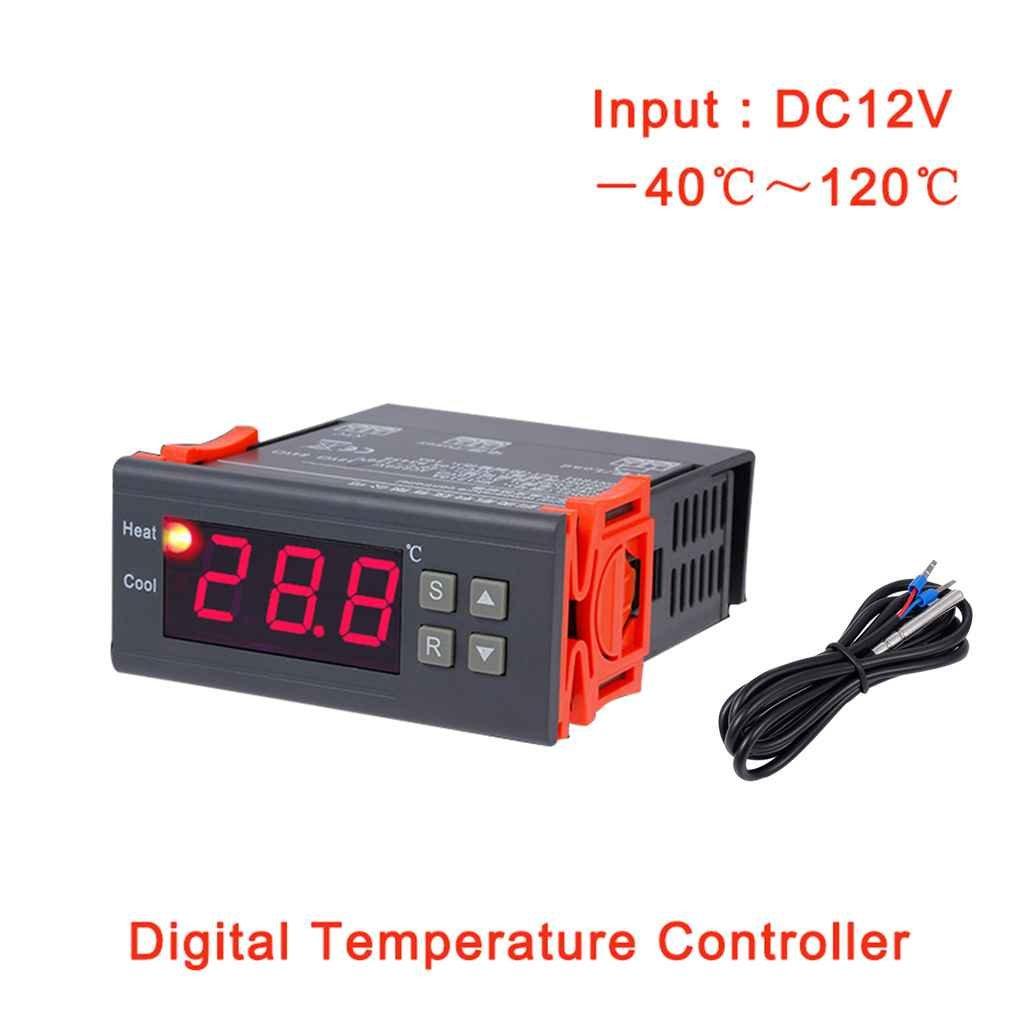 Royalr Herramientas MH1210A DC 12V termostato regulador digital LCD Frigorí fico Controlador de temperatura termopar controlador con sensor