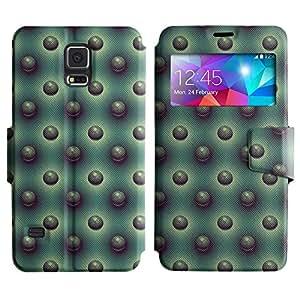 LEOCASE círculos fresco Funda Carcasa Cuero Tapa Case Para Samsung Galaxy S5 I9600 No.1005456
