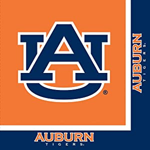 Auburn Tigers Lunch Napkins, 20-Count, 12 7/8 inches x12 3/4 inches