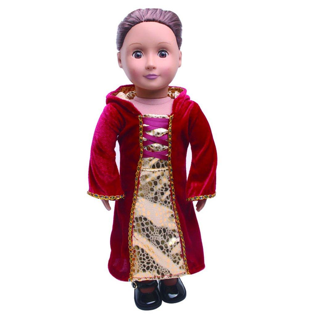 Puppenkleidung Kleid Outfit Kleidung Set f/ür 18 Zoll American Girl Doll Geschenk Zeagro Puppenkleidung