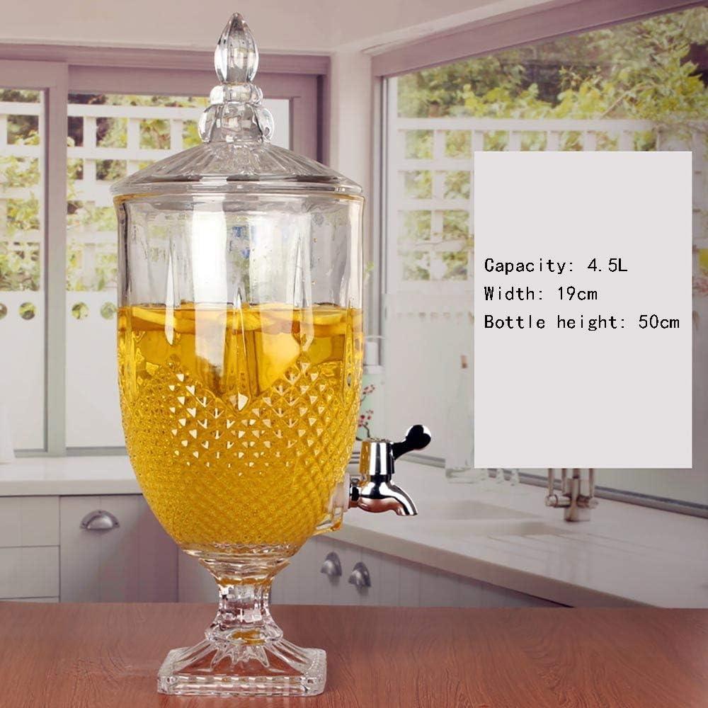 X-L-H メイソンジャーガラス密閉缶飲料缶、飲料ディスペンサー、漏れのない蛇口付き、ガラス製品、パーティー、結婚式、食事、イベント (Size : G)