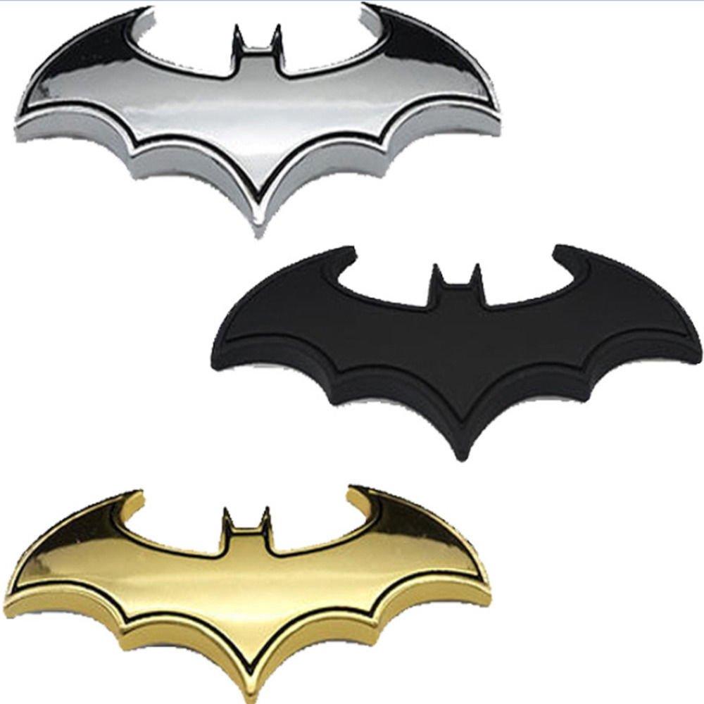 BAAQII 2pc DIY 3D Batman Metal Auto Car Motorcycle Logo Sticker Badge Emblem Tail Calcomaní as TS Trade