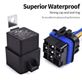 MICTUNING 12V 5 Pin Waterproof Relay Harness Set