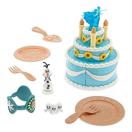 Amazoncom Disney Anna Birthday Cake Play Set Frozen Fever Toys