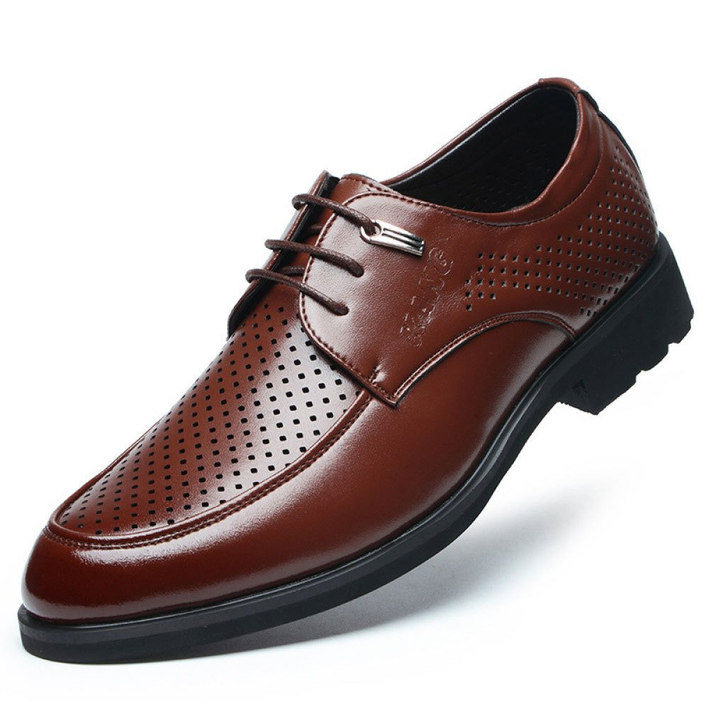 LEDLFIE Herren Lederschuhe Business Formelle Kleidung Ausschnitte Tipps Schnürsenkel Lederschuhe Low-Cut-Schuhe