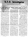 The U.F.O. Investigator July August 1960, National Investigations Committee on Aerial Phenomena (NICAP)