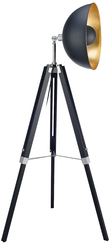 Versanora VN-L00019-EU Fascino Lampada a Treppiedi 60 W, Nero, 78.5 x 78.5 x 160 cm