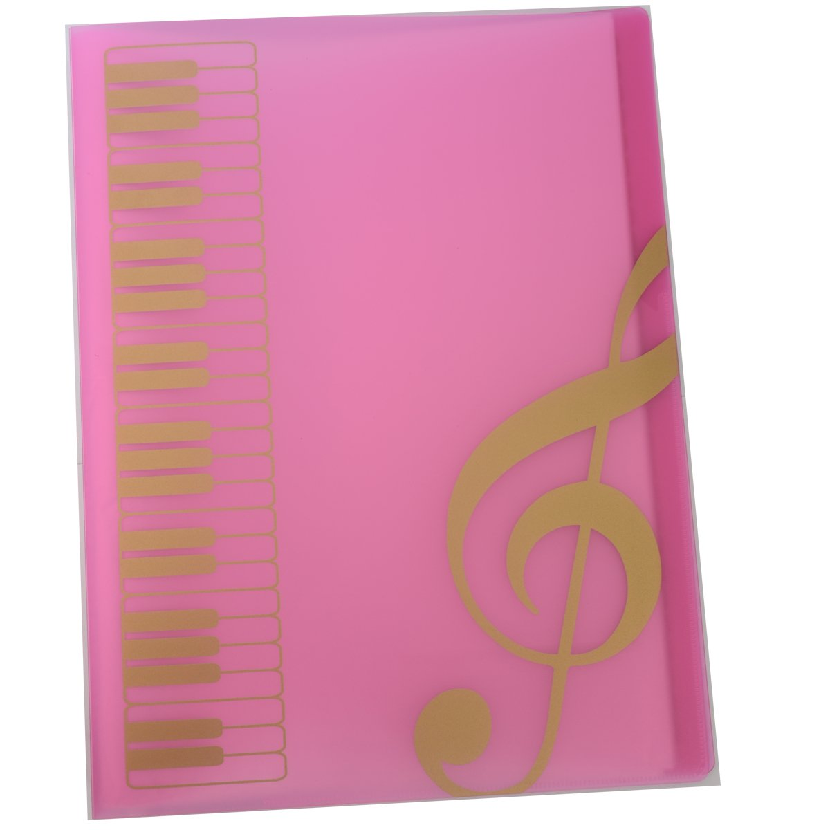 Music Themed Folder Music folder storage Holder,A4 Size Folder,40 Pockets,Treble Clef Folder (Lucency) Sound harbor Music Folder MG-43