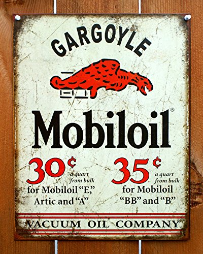 Mobil Gargoyle Distressed Retro Vintage Tin Sign 13 x 16in ()