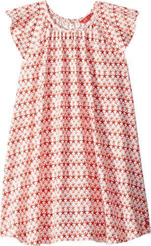 Joules Kids Baby Girl's Jersey Frill Sleeved Dress (Toddler/Little Kids) Red Sky Starfish 4