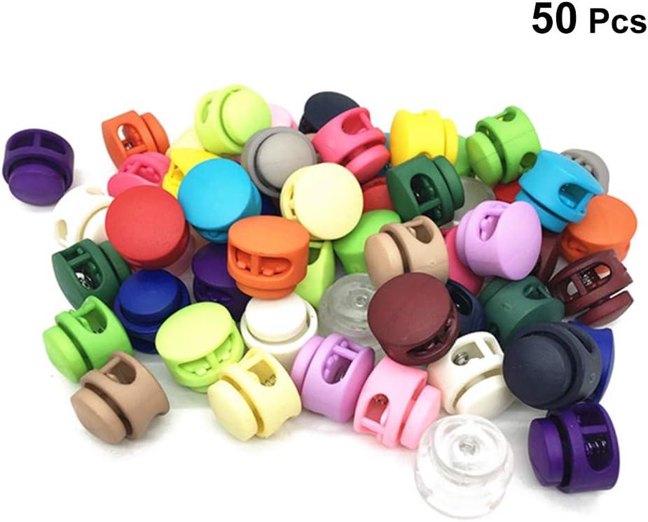 SUPVOX 50 unids Cerradura de cordón de colorido resorte de doble orificio