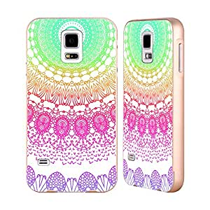 Official Monika Strigel Rainbow 2 Boho Lace Gold Aluminium Bumper Slider Case for Samsung Galaxy S5 / S5 Neo