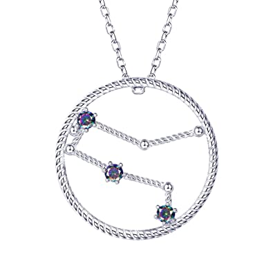 Amazoncom Gemini Necklace For Women Sterling Silver Cz Charm With