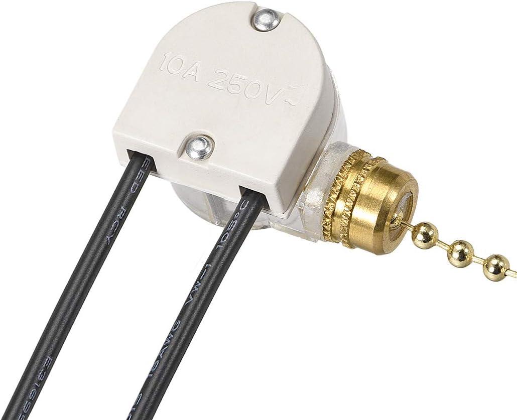 paquete de 1//2//3 juegos Sourcingmap Interruptor de luz de ventilador con cadena de lat/ón de 2 pulgadas