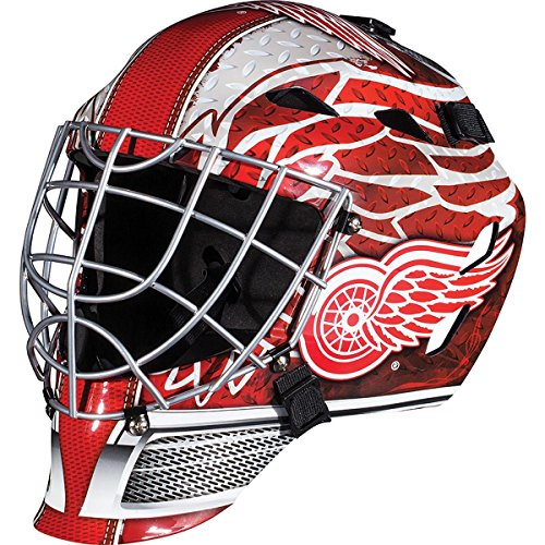 Franklin Sports Detroit Red Wings Goalie Mask - Team Graphic Goalie Face Mask - GFM1500 Only for Ball & Street - NHL Official Licensed Product