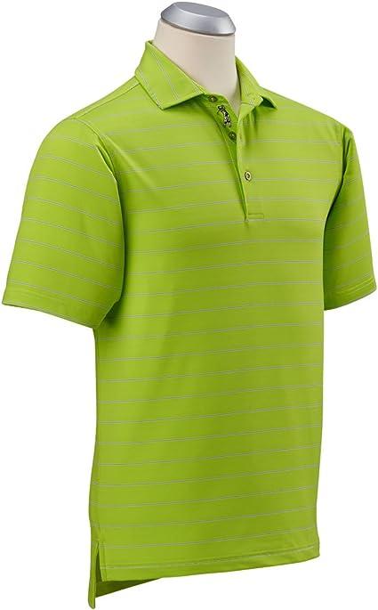 Bobby Jones Mens XH2O Momentum Short Sleeve Stripe Polo Mint Julep