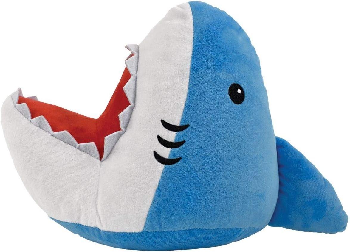 iscream Shark Attack 3D Shaped 13 x 18 Embroidered Fleece Accent Pillow