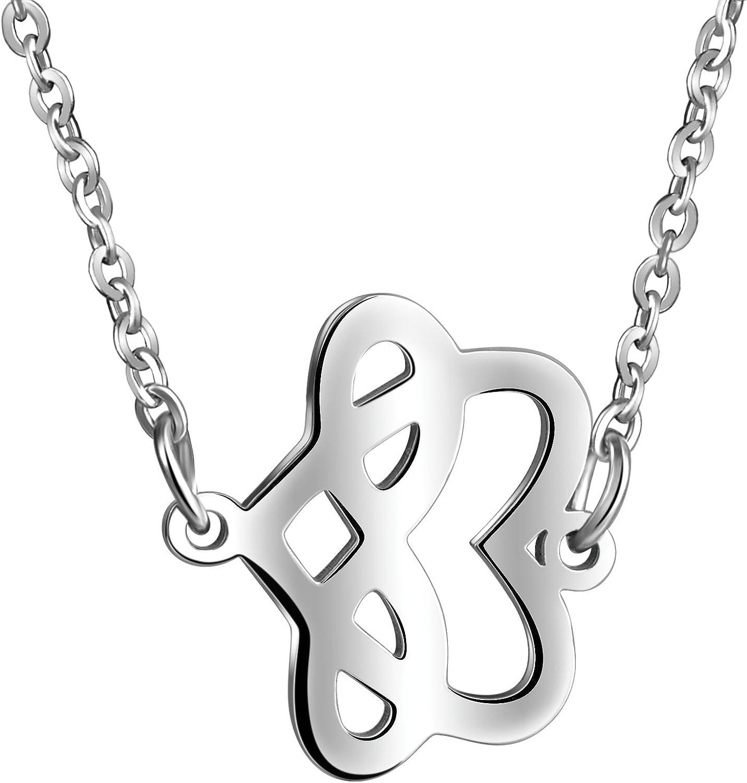 Femmes en Acier Inoxydable Love Infinity Symbole Promesse Collier Pendentif Bracelet