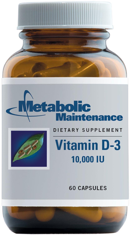 Metabolic Maintenance - Vitamin D-3-10,000 IU, 60 Capsules