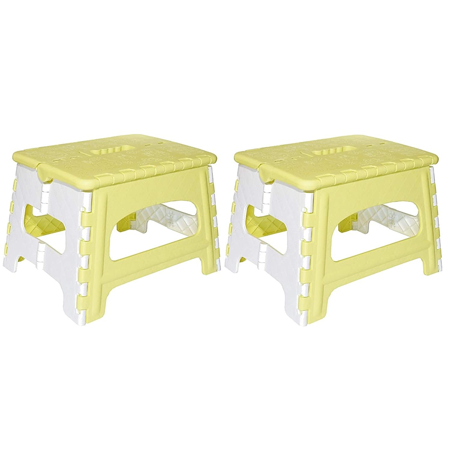 Green Direct Folding Step Stool for Kids and Adult for Bedside and Kitchen and Bathroom use, Blue, Pack of 2