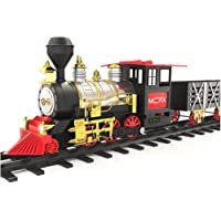 MOTA Classic Holiday Christmas Train Set with Real Smoke