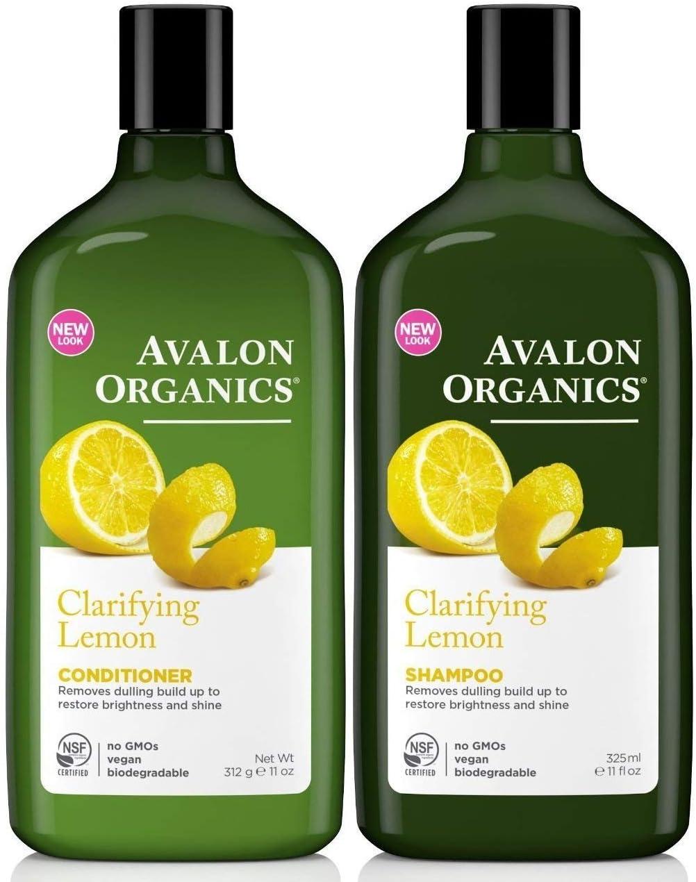 Avalon Organics - Juego de champú y acondicionador de limón para ...