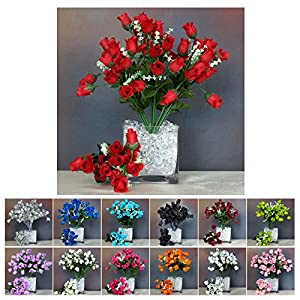 Efavormart 360 Mini Artificial Roses Buds Flowers Bushes Bouquets for Wedding Decoration 44