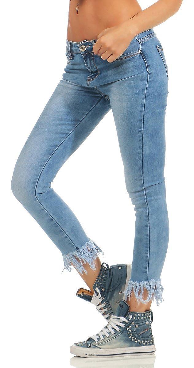 5298 Damen Jeans Röhre Skinny Damenjeans Stretch Denim Haremshose knöchellang