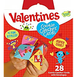 Peaceable Kingdom Valentine Cootie Catcher Super Valentine Card Pack