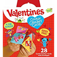 Peaceable Kingdom 28 Card Cootie Catcher Valentines with...