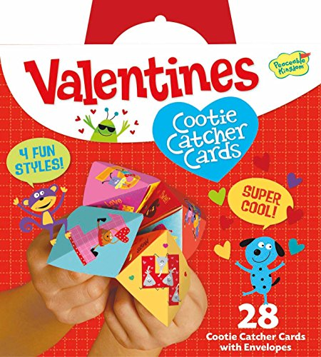Peaceable Kingdom Valentine Cootie Catcher 28 Card Super Valentine Pack