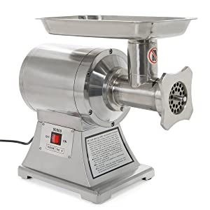 Ensue Meat Grinder Mincer, Stainless Steel Industrial Portable Electric 1HP FDA Certificated