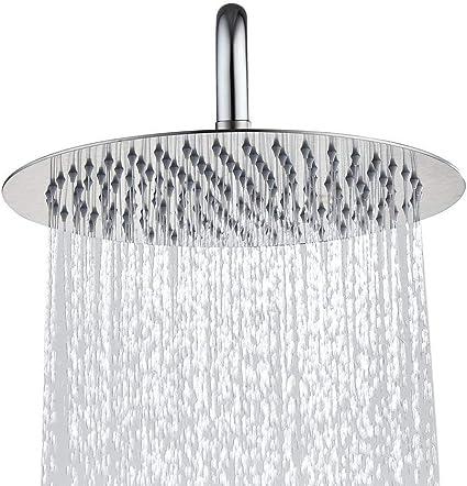 Soffione doccia in acciaio inox rotondo 40 cm//lucidato doccia a pioggia