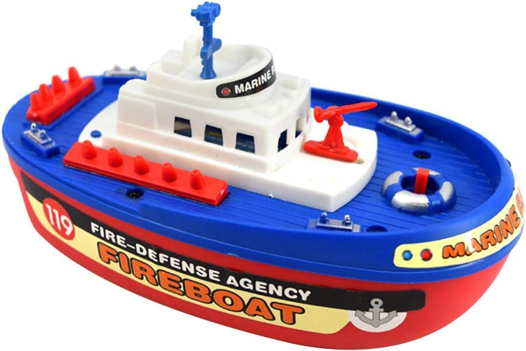 Joyibay Niños Barco De Juguete Creativo De Alta Velocidad EléCtrico Agua Spray Baño De Juguete Juguete De Sonido