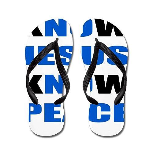 3bf887dd5 CafePress - Know Jesus Know Peace - Flip Flops