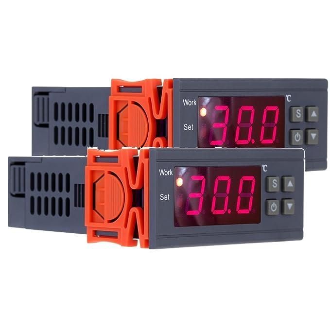 4 opinioni per KKmoon 90 ~ 250V 10A Regolatore Controllore di Temperatura Termoregolatore