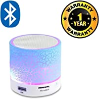 Cospex Rechargeable Bluetooth Outdoor Light Speaker with LED Light, Support TF Card & Mic Compatible with All Smartphones