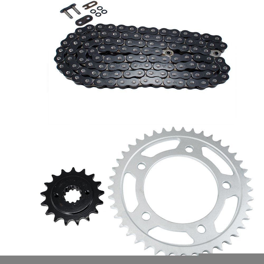 Black O-Ring Chain and Sprocket Kit for Honda VT750 DC Shadow Spirit 2001 2002 2003 2004 2005 2006 2007