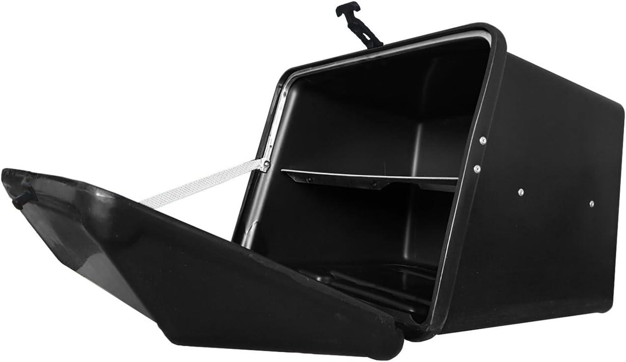 Portaequipajes Moto baúl Reparto Negro/Negro con Bandeja y Reflectantes homologados: Amazon.es: Coche y moto