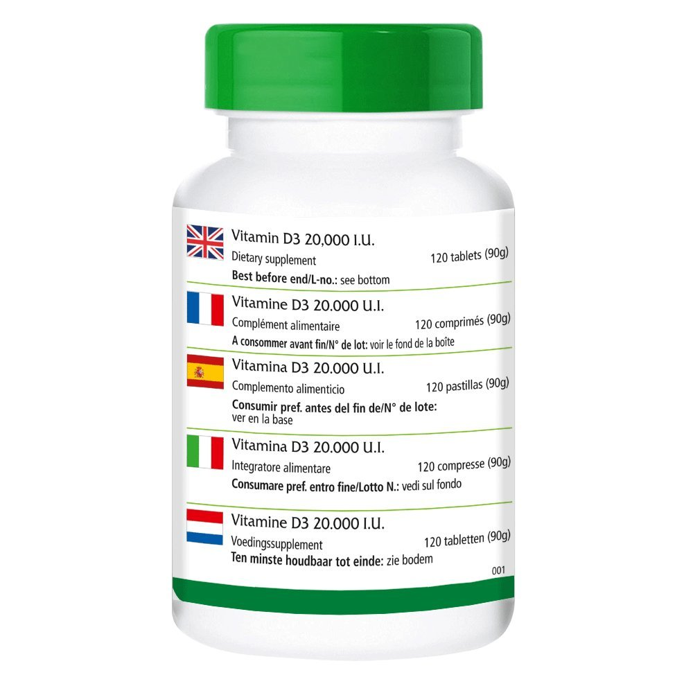 Vitamina D3 20000 UI Depot - Bote - Alta dosificación - 120 comprimidos - solamente 1 comprimido cada 20 días - colecalciferol: Amazon.es: Salud y cuidado ...