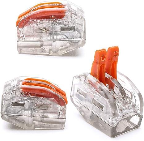 Conector Conductor Compacto Premium Resorte terminales el/éctricos Kit PCT-212//213//215 total de 30paquetes)
