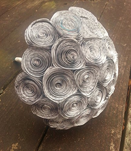 Amazon large handmade newspaper flower bouquet light blue large handmade newspaper flower bouquet light blue paper flowers for weddings anniversaries birthdays mightylinksfo