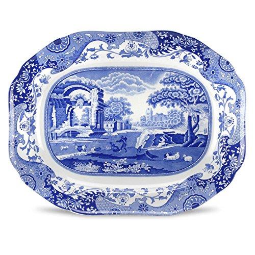 Spode Blue Italian  Oval Platter (Italian Porcelain)
