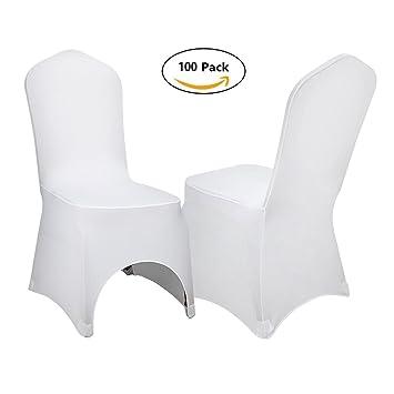 Anhon 100 Stücke Stuhlabdeckung Schonbezüge Für Stühle Weiße Farbe