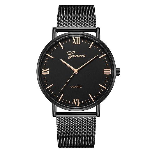 Rcool Relojes suizos relojes de lujo Relojes de pulsera Relojes para mujer Relojes para hombre Relojes deportivos,Reloj analógico de acero inoxidable ...