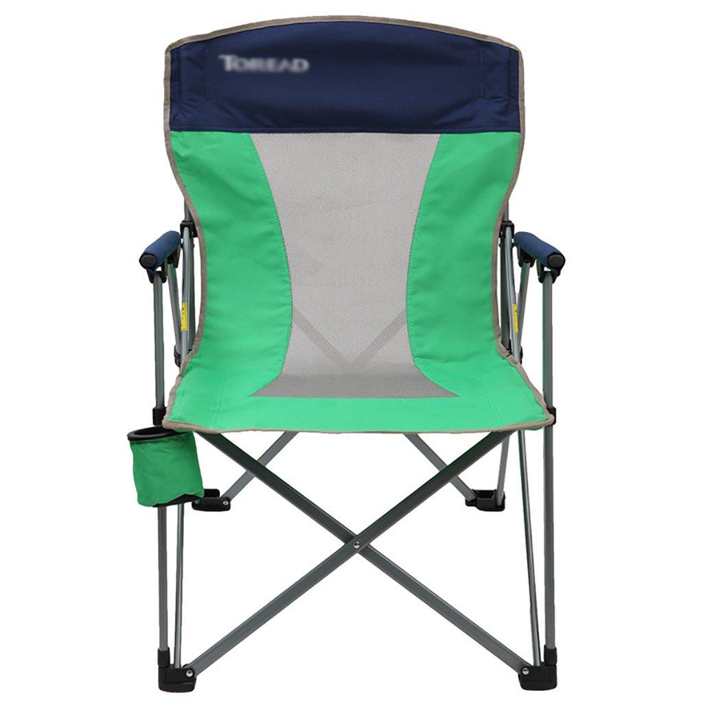 Camping klappstuhl Klappstuhl im Freien, Fischen-Freizeit-Stuhl, Breathable fester beweglicher Strand-Stuhl, ( Farbe : Grün )