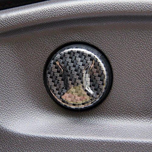 High Flying ABS Noir Int/érieur /électrique Bouton de r/églage de si/ège avant Coque Coupez 6/pcs pour accessoire Auto Vwtg17