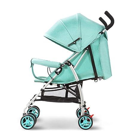XYQ Carrito de bebé-Bebé Trolley Ligero Plegable Puede Sentarse/Lie Toldo de aleación