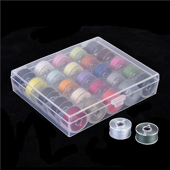 Hilo de coser y bobinas juego de maletín con organizador Bobina de almacenamiento, varios colores: Amazon.es: Hogar