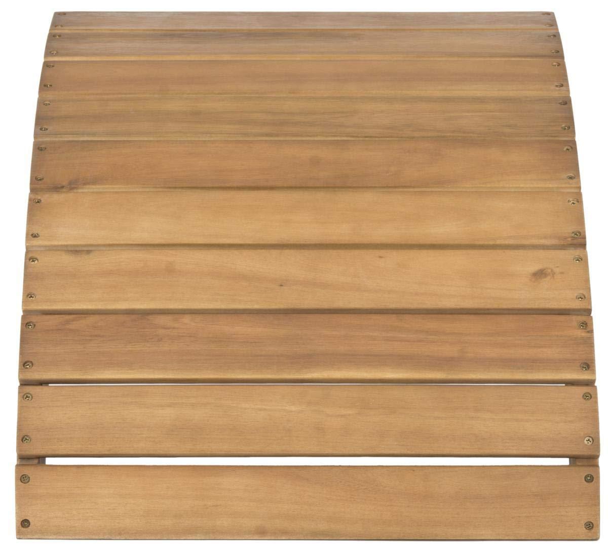 Safavieh Patio Collection Hampton Adirondack Acacia Wood Ottoman, Natural